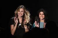 RIO DE JANEIRO, RJ, 13 DE JANEIRO 2012 - FASHION RIO - DESFILE GRIFE FILHAS DE GAIA - Estilistas da grife Filhas de Gaia no quarto dia de desfiles da edição inverno 2012 do Fashion Rio, no Pier Mauá, na cidade do Rio de Janeiro, nesta sexta-feira, 13. (FOTO: BRUNO TURANO - NEWS FREE).