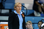 05 November 2014: UNC head coach Sylvia Hatchell. The University of North Carolina Tar Heels hosted the Carson-Newman University Eagles at Carmichael Arena in Chapel Hill, North Carolina in an NCAA Women's Basketball exhibition game. UNC won the game 88-27.
