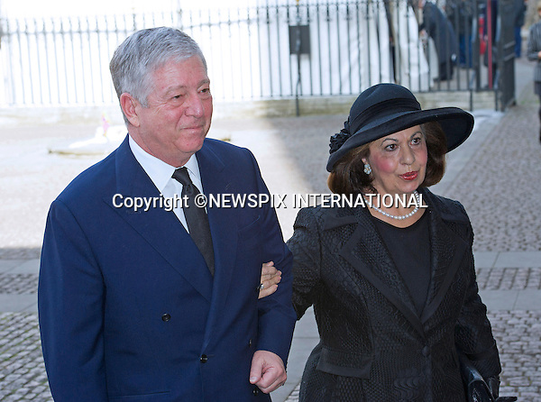 PRINCE ALEXANDER AND PRINCESS KATHERINE OF YUGOSLAVIA<br /> attend Sir David Frost Memorial, Westminster Abbey, London_13/03/2014<br /> Mandatory Credit Photo: &copy;Dias/NEWSPIX INTERNATIONAL<br /> <br /> **ALL FEES PAYABLE TO: &quot;NEWSPIX INTERNATIONAL&quot;**<br /> <br /> IMMEDIATE CONFIRMATION OF USAGE REQUIRED:<br /> Newspix International, 31 Chinnery Hill, Bishop's Stortford, ENGLAND CM23 3PS<br /> Tel:+441279 324672  ; Fax: +441279656877<br /> Mobile:  07775681153<br /> e-mail: info@newspixinternational.co.uk