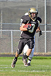 Palos Verdes CA 10/22/10 - Josh Mcguiness (Peninsula #3) in action during the Leuzinger - Peninsula varsity football game at Palos Verdes Peninsula High School.