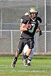 Palos Verdes CA 10/22/10 - Josh Mcguiness (Peninsula #3) in action during the Leuzinger - Peninsula varsity football game at Palos Verdes Peninsula High School.