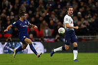 Cesar Azpilicueta of Chelsea and Harry Kane of Tottenham Hotspur during Tottenham Hotspur vs Chelsea, Caraboa Cup Football at Wembley Stadium on 8th January 2019