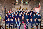 Pupils from Ardfert national School who were confirmed on Thursday in  St Brendans Church, Ardfert by Bishop Bill Murphy also with the pupils were: Fr Liam Lovell and their teacher Billy O'Connor.......................