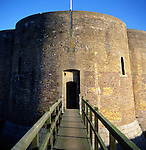 Quatrefoil martello tower from the Napoleonic war, Slaughden, Aldeburgh, Suffolk, England