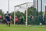 17.05.2018, Stadion am Auetal, Ahlerstedt, GER, FSP, Auswahl Ahlerstedt / Ottendorf vs SV Werder Bremen<br /> <br /> im Bild<br /> Johannes Eggestein (Werder Bremen #24) im Duell / im Zweikampf mit Torwart, Eggestein lupft den Ball zum 0:1, <br /> <br /> Foto &copy; nordphoto / Ewert