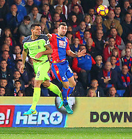 Dejan Lovren heads clear from James McArthur during the EPL - Premier League match between Crystal Palace and Liverpool at Selhurst Park, London, England on 29 October 2016. Photo by Steve McCarthy.