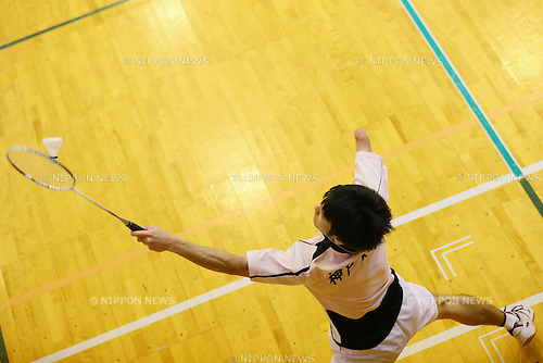 Gen Shogaki, <br /> FEBRUARY 6, 2016 - Badminton : <br /> The 1st Japan National Badminton Championships <br /> Men's singles SU5+ <br /> at Kurume city western gymnasium, Fukuoka, Japan. <br /> (Photo by Yohei Osada/AFLO SPORT)