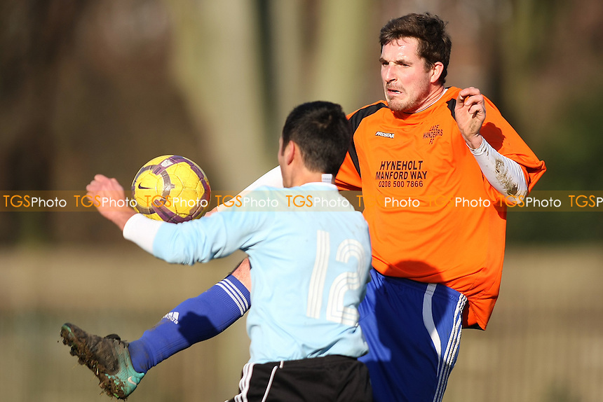 Hainault Athletic (Orange) v Essex Minors, Barkingside Recreational Ground- Independent Sunday League Football - 15/01/12 - MANDATORY CREDIT: George Phillipou/TGSPHOTO - Self billing applies where appropriate - 0845 094 6026 - contact@tgsphoto.co.uk - NO UNPAID USE.