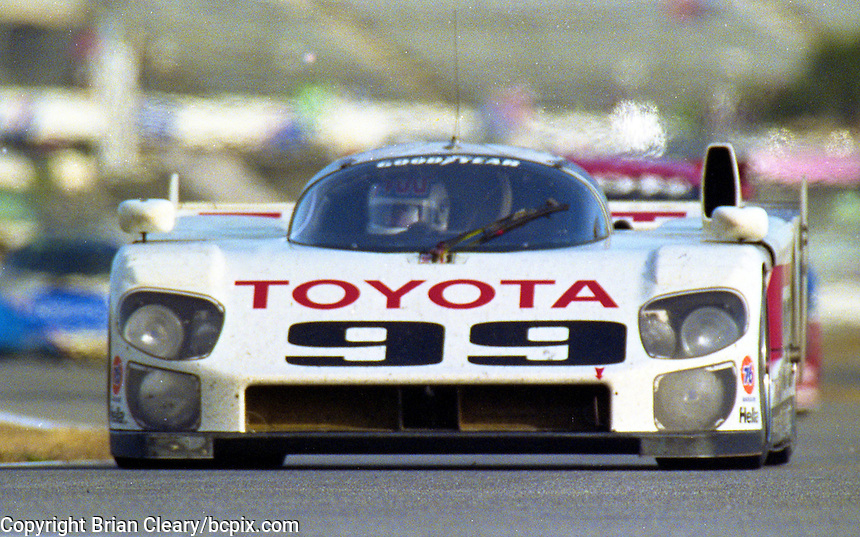 The #99 Eagle MkIII Toyota  of Juan Fangio II, Andy Wallace, and Kenny Acheson races to an 11th place finish in the 24 Hours of Daytona, Daytona International Speedway, Daytona Beach, FL, February 2, 1992.  (Photo by Brian Cleary/www.bcpix.com)