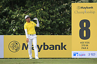 Phachara Khongwatmai (THA) in action on the 8th tee during Round 2 of the Maybank Championship at the Saujana Golf and Country Club in Kuala Lumpur on Friday 2nd February 2018.<br /> Picture:  Thos Caffrey / www.golffile.ie<br /> <br /> All photo usage must carry mandatory copyright credit (&copy; Golffile | Thos Caffrey)