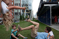 NEW YORK - JUNE 26: Activity on the Highline in New York City.(Photo by Landon Nordeman)