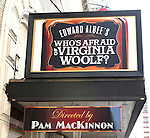 Theatre Marquee unveiling - 'Who's Afraid Of Virginia Woolf' at the Booth Theatre in New York City on 6/29/2012.Steppenwolf ensemble members Tracy Letts and Amy Morton face off as one of theatre's most notoriously dysfunctional couples in Albee's hilarious and harrowing masterpiece.