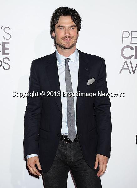 Pictured: Ian Somerhalder<br /> Mandatory Credit &copy; Gilbert Flores/Broadimage<br /> 2014 People's Choice Awards<br /> <br /> 1/8/14, Los Angeles, California, United States of America<br /> <br /> Broadimage Newswire<br /> Los Angeles 1+  (310) 301-1027<br /> New York      1+  (646) 827-9134<br /> sales@broadimage.com<br /> http://www.broadimage.com