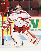 Anthony Moccia (BU - 1) - The visiting Bentley University Falcons defeated the Boston University Terriers 4-1 (EN) on Saturday, December 14, 2013, at Agganis Arena in Boston, Massachusetts.