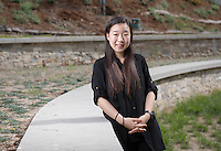 Shirley Bae '17 - Portrait taken for Hameetman Career Center (HCC) brochure, March 3, 2016.<br /> (Photo by Marc Campos, Occidental College Photographer)