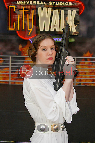 Christy Erkel at Princess Leia