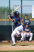 San Diego Padres Aldemar Burgos (12) during an instructional league game against the Texas Rangers on October 9, 2015 at the Surprise Stadium Training Complex in Surprise, Arizona.  (Mike Janes/Four Seam Images)