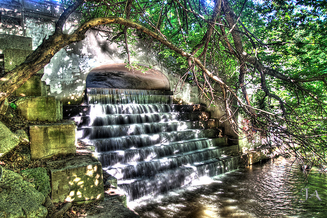 HDR Martlings Pond Waterfall