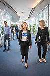 """BRUSSELS - BELGIUM - 08 October 2019 -- Student Sara Murto visiting the European Parliament and """"taking over"""" from MEP Eero Heinäluoma. Here with assistant Elisa Josefiina SELINUMMI in the corridors of the EP. -- PHOTO: Juha ROININEN / EUP-IMAGES"""