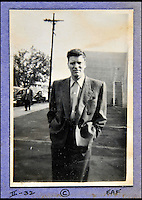 BNPS.co.uk (01202 558833)<br /> Pic: DominicWinter/BNPS<br /> <br /> Burt Lancaster pictured in a car park.<br /> <br /> A remarkable set of 430 candid photographs of Hollywood royalty have been unearthed after 50 years.<br /> <br /> Included in the collection of unpublished pictures are snaps of silver screen icons Paul Newman, Charlie Chaplin, Bette Davis, Audrey Hepburn, and Dean Martin.<br /> <br /> Paul Newman is captured looking over his shoulder at the wheel of his car and Charlie Chaplin is pictured without his trademark moustache. <br /> <br /> Audrey Hepburn has posed with her then husband actor Mel Ferrer while Bette Davis can be seen puffing on a cigarette.<br /> <br /> The snaps were taken by obsessive amateur photographer Dwight 'Dodo' Romero from 1954 to 1967 who would hang around at Hollywood parking lots and other hang-outs to catch a glimpse of the stars.<br /> <br /> The photos, which more recently belonged to a book dealership in York, have emerged for auction and are tipped to sell for &pound;800.