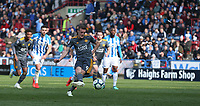Leicester City's Jamie Vardy scores his second and his sides fourth goal from the penalty spot <br /> <br /> Photographer Stephen White/CameraSport<br /> <br /> The Premier League - Huddersfield Town v Leicester City - Saturday 6th April 2019 - John Smith's Stadium - Huddersfield<br /> <br /> World Copyright © 2019 CameraSport. All rights reserved. 43 Linden Ave. Countesthorpe. Leicester. England. LE8 5PG - Tel: +44 (0) 116 277 4147 - admin@camerasport.com - www.camerasport.com