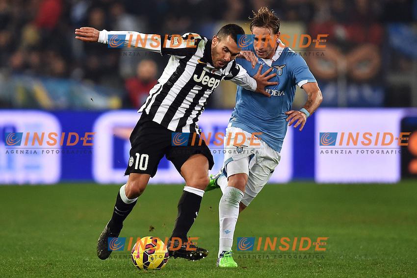 Carlos Tevez Juventus, Lucas Biglia Lazio <br /> Roma 22-11-2014 Stadio Olimpico, Football Calcio Serie A . Lazio - Juventus. Foto Andrea Staccioli / Insidefoto