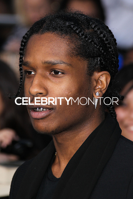 "WESTWOOD, LOS ANGELES, CA, USA - MARCH 18: A$AP Rocky at the World Premiere Of Summit Entertainment's ""Divergent"" held at the Regency Bruin Theatre on March 18, 2014 in Westwood, Los Angeles, California, United States. (Photo by Xavier Collin/Celebrity Monitor)"