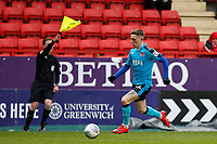 Ashley Hunter of Fleetwood Town is offside during the Sky Bet League 1 match between Charlton Athletic and Fleetwood Town at The Valley, London, England on 17 March 2018. Photo by Carlton Myrie.
