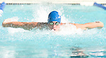 The Gazette James Lilly representing the Whitehall Pool & Tennis swim team swims the 50 meter butterfly during the B Division PMSL swim meet on Saturday morning at Whitehall Pool & Tennis Club in Bowie.