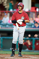 Altoona Curve outfielder Andrew Lambo #46 at bat during an Eastern League game against the Erie Seawolves at Jerry Uht Park on August 31, 2012 in Erie, Pennsylvania.  Altoona defeated Erie 4-3.  (Mike Janes/Four Seam Images)