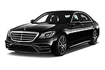 2018 Mercedes Benz S Class Base 4 Door Sedan angular front stock photos of front three quarter view