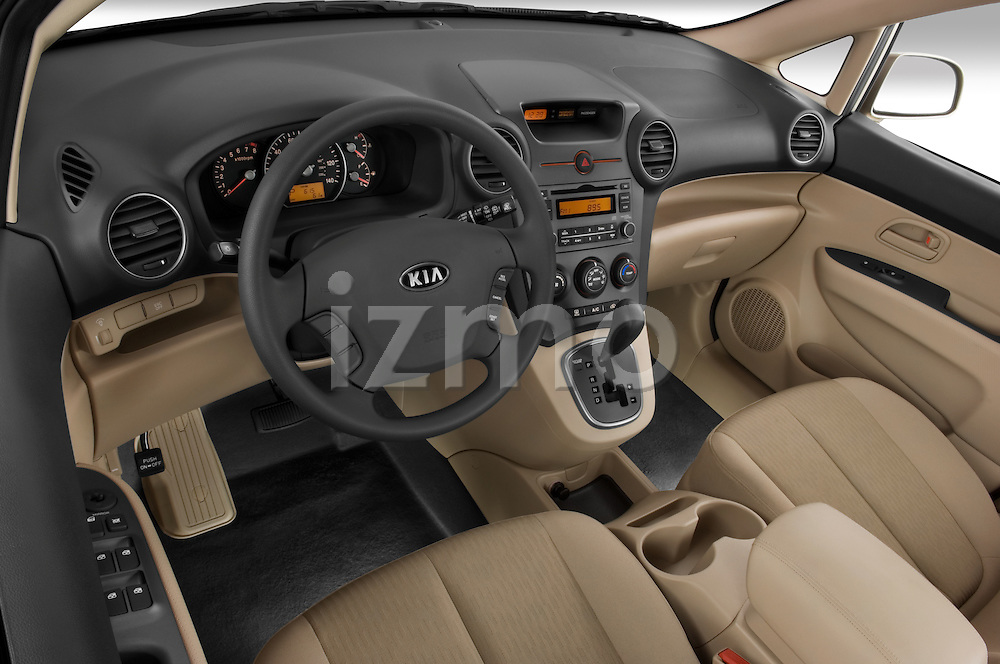 High angle dashboard view of a 2008 Kia Rondo EX V6