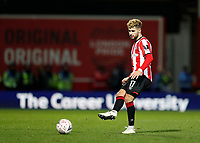 4th January 2020; Griffin Park, London, England; English FA Cup Football, Brentford FC versus Stoke City; Emiliano Marcondes of Brentford - Strictly Editorial Use Only. No use with unauthorized audio, video, data, fixture lists, club/league logos or 'live' services. Online in-match use limited to 120 images, no video emulation. No use in betting, games or single club/league/player publications