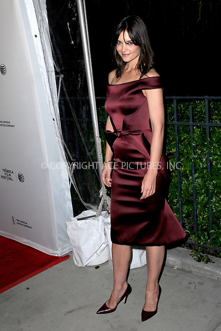 WWW.ACEPIXS.COM<br /> April 21, 2014 New York City<br /> <br /> Actress Katie Holmes attends the 'Miss Meadows' Premiere during 2014 Tribeca Film Festival at the SVA Theater on April 21, 2014 in New York City. <br /> <br /> By Line: Kristin Callahan/ACE Pictures<br /> ACE Pictures, Inc.<br /> tel: 646 769 0430<br /> Email: info@acepixs.com<br /> www.acepixs.com