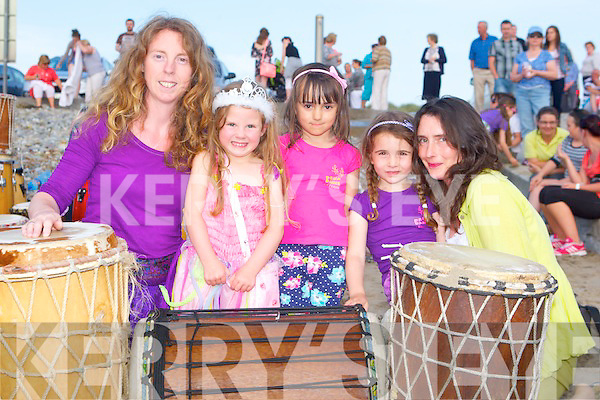 CANDLES: Attending the Celebration of Light candle ceremony at Banna Strand on Sunday l-r: Ellie O'Flynn, Naidin Minjon, Helenka Murphy, Saorise Wenk and Theresa O'Donoghue.