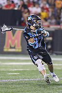 College Park, MD - April 29, 2017: Johns Hopkins Blue Jays Alex Concannon (87) looks to pass the ball during game between John Hopkins and Maryland at  Capital One Field at Maryland Stadium in College Park, MD.  (Photo by Elliott Brown/Media Images International)