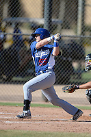 Los Angeles Dodgers catcher Austin Cowen (55) during an Instructional League game against the Chicago White Sox on October 8, 2013 at Camelback Ranch Complex in Glendale, Arizona.  (Mike Janes/Four Seam Images)
