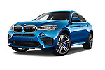 Stock pictures of low aggressive front three quarter view of a 2018 BMW X6 M 4 Door SUV
