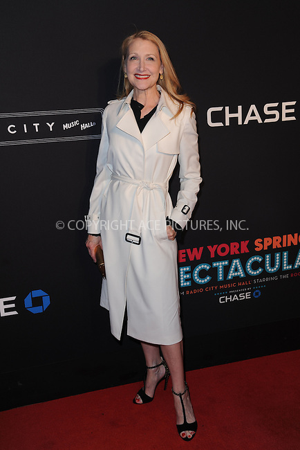 WWW.ACEPIXS.COM<br /> March 26, 2015 New York City<br /> <br /> Patricia Clarkson attending the 2015 New York Spring Spectacular at Radio City Music Hall on March 26, 2015 in New York City.<br /> <br /> Please byline: Kristin Callahan/AcePictures<br /> <br /> ACEPIXS.COM<br /> <br /> Tel: (646) 769 0430<br /> e-mail: info@acepixs.com<br /> web: http://www.acepixs.com