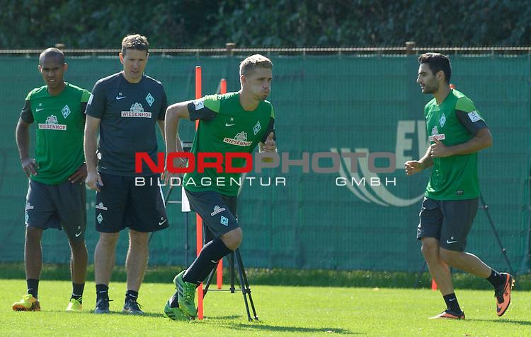 28.08.2013, Trainingsgelaende, Bremen, GER, 1.FBL, Training Werder Bremen, im Bild Nils Petersen (Bremen #24)<br /> <br /> Foto &copy; nph / Frisch