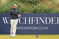 Shane Lowry (IRL) on the 5th tee during Round 2 of the Alfred Dunhill Links Championship 2019 at Kingbarns Golf CLub, Fife, Scotland. 27/09/2019.<br /> Picture Thos Caffrey / Golffile.ie<br /> <br /> All photo usage must carry mandatory copyright credit (© Golffile | Thos Caffrey)