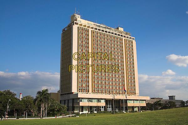 A ministry building, Plaza de la Revolucion, Revolution Square, Havana, Cuba