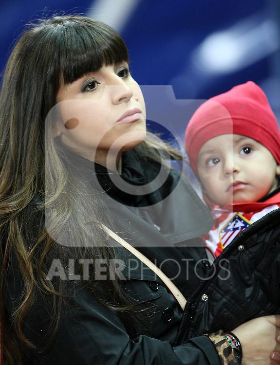 Kun Aguero's wife Giannina Maradona and son Benjamin Aguero Maradona.(ALTERPHOTOS/Acero)