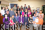 GOLDEN: Patrick and  Hannah Dineen, Glenderry, Ballyheigue who celebrated their 50th Golden Wedding Anniversary on Sunday with their Children, Grandchildren and many of their friends in the Castle Arms Hotel, Ballyheigue.( Hannah and Patrick are seated 3r and fourth from left)........ ....................