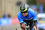 Muradjan Khalmuratov (UZB) in action during the Men Elite Individual Time Trial of the UCI World Championships 2019 running 54km from Northallerton to Harrogate, England. 25th September 2019.<br /> Picture: Eoin Clarke | Cyclefile<br /> <br /> All photos usage must carry mandatory copyright credit (© Cyclefile | Eoin Clarke)