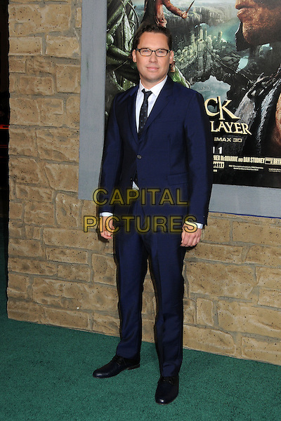 "Bryan Singer.""Jack The Giant Slayer"" Los Angeles Premiere held at Grauman's Chinese Theatre, Hollywood, California, USA..February 26th, 2013.full length suit blue shirt jacket white black glasses .CAP/ADM/BP.©Byron Purvis/AdMedia/Capital Pictures."