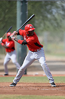 Cincinnati Reds outfielder Aristides Aquino (73) during an Instructional League game against the Texas Rangers on October 7, 2013 at Goodyear Training Complex in Goodyear, Arizona.  (Mike Janes/Four Seam Images)