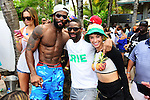 MIAMI BEACH, FL - JUNE 21: Braylon Edwards, DJ Irie and Guest attend  DJ Irie Weekend-IWX - BBQ Beach Bash Pool Party at National Hotel on Saturday June 21, 2014 in Miami Beach, Florida. (Photo by Johnny Louis/jlnphotography.com)
