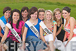 FESTIVAL QUEENS: Eight of the girls from Ballyheigue contestants for Ballyheigue Queen on Sunday, l-r: Liz Dineen (Huckleberrys), Ann Marie Reidy (Godleys), Marie O'Mahony (Kirby's Bar), Siobhan Horgan (Brassils Pharamacy), Brenda Lawlor (White Sands Hotel), Stacey Reidy (Londis), Kathleen Hehir (Marian Park) and Lucy O'Connor (Costcutters)..