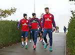England's Jack Wilshere, Jamie Vardy and Gary Cahill during training at Tottenham Hotspur training centre, London. Picture date November 14th, 2016 Pic David Klein/Sportimage